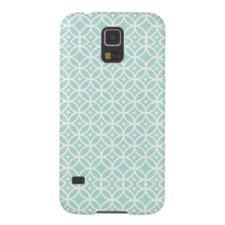 Light Blue and White Circle and Star Pattern Galaxy S5 Case