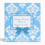 Light blue and white damask Binder