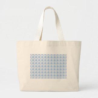 Light Blue and White Diamond Pattern Jumbo Tote Bag