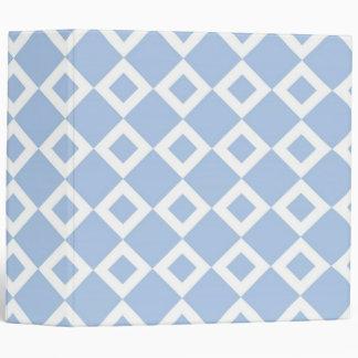 Light Blue and White Diamond Pattern Binder