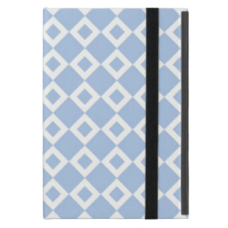 Light Blue and White Diamond Pattern Cases For iPad Mini