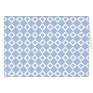 Light Blue and White Diamond Pattern Greeting Card