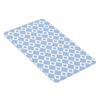 Light Blue and White Diamond Pattern Magnet
