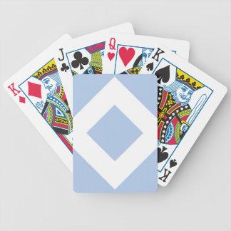 Light Blue and White Diamond Pattern Poker Cards