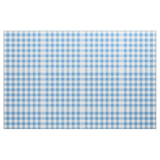 Light Blue and White Gingham Block Pattern Fabric