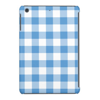 Light Blue and White Gingham Pattern iPad Mini Covers