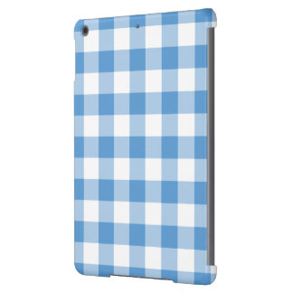 Light Blue and White Gingham Pattern Case For iPad Air