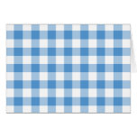 Light Blue and White Gingham Pattern Greeting Card