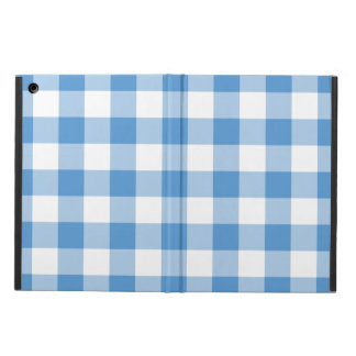 Light Blue and White Gingham Pattern iPad Air Cover