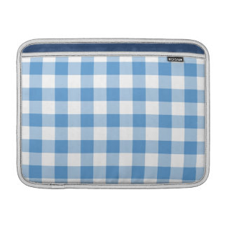 Light Blue and White Gingham Pattern MacBook Air Sleeve
