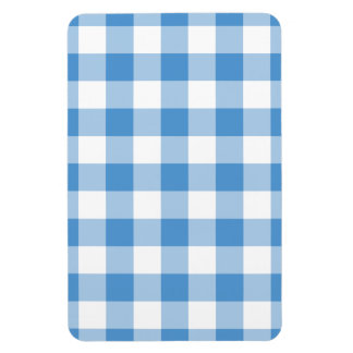 Light Blue and White Gingham Pattern Magnet