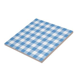 Light Blue and White Gingham Pattern Tile