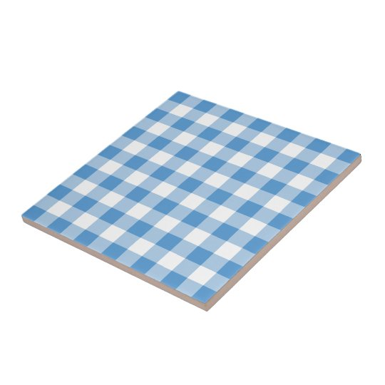 Light Blue and White Gingham Pattern Tile