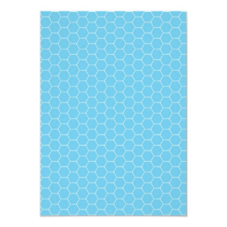 Light Blue and White Honeycomb Pattern Gifts 5x7 Paper Invitation Card
