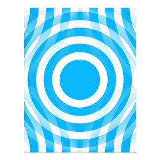 light_blue_and_white_interlocking_concentric_circl flyer