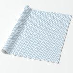 Light Blue and White Large Chevron Pattern V Gift Wrap