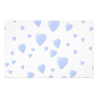 Light Blue and White Love Hearts Pattern. Flyer