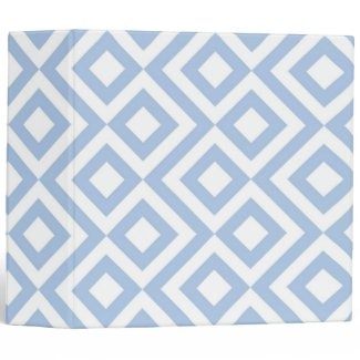 Light Blue and White Meander
