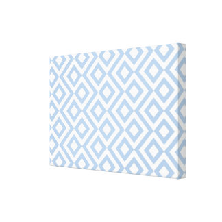 Light Blue and White Meander Canvas Print