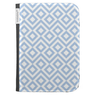 Light Blue and White Meander Kindle 3G Cases