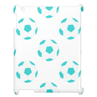 Light Blue and White Soccer Ball Pattern Case For The iPad 2 3 4