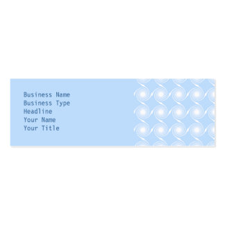 Light blue and white spiral pattern design. mini business card