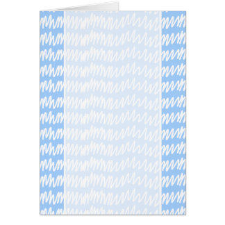 Light blue and white squiggle pattern. card