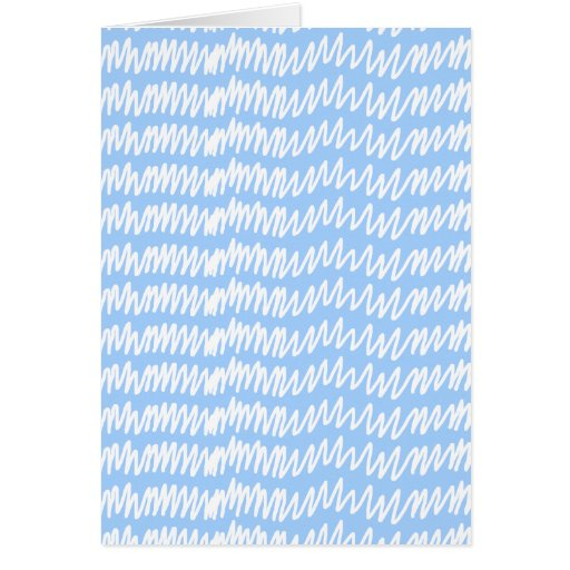 Light blue and white squiggle pattern. cards
