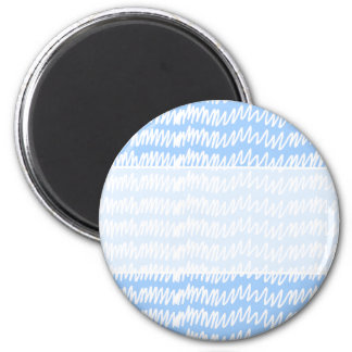 Light blue and white squiggle pattern. fridge magnet
