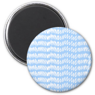 Light blue and white squiggle pattern. magnets