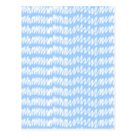 Light blue and white squiggle pattern. postcard