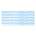 Light blue and white squiggle pattern. rack cards