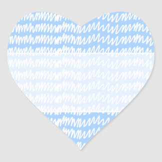 Light blue and white squiggle pattern. heart sticker