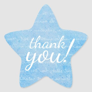 Professional Business Light Blue and White Star Party Favor Seal