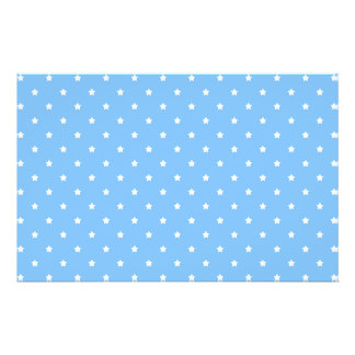 Light Blue and White. Star Pattern. Flyer