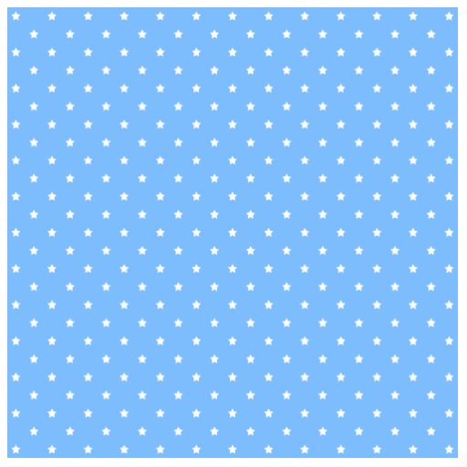 Light Blue and White. Star Pattern. Acrylic Cut Out