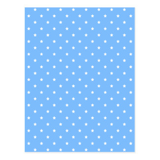 Light Blue and White. Star Pattern. Postcard
