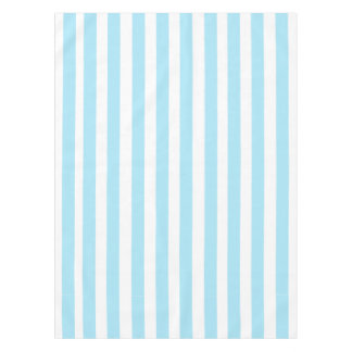 Light Blue And White Stripes Pattern Tablecloth