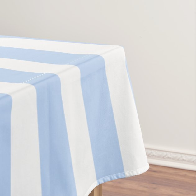 Light Blue And White Stripes Pattern Tablecloth | Zazzle.com