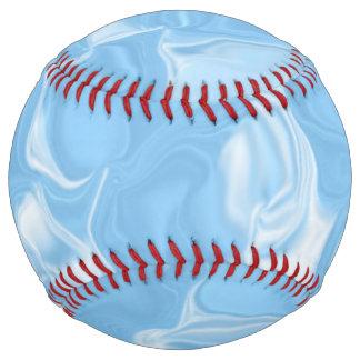 Light Blue and White Waves Softball