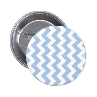Light Blue and White Zigzag 2 Inch Round Button