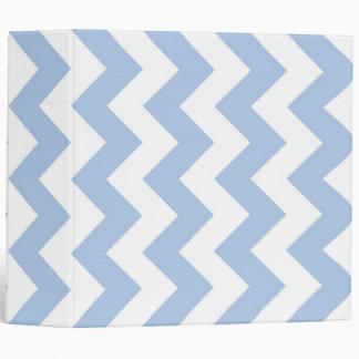 Light Blue and White Zigzag Binder