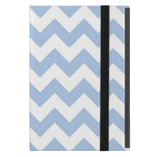 Light Blue and White Zigzag Cases For iPad Mini
