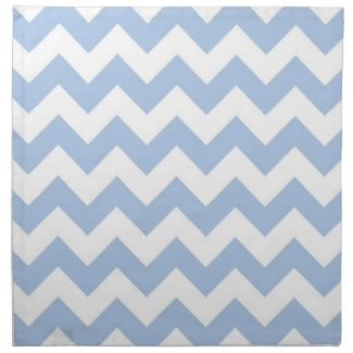 Light Blue and White Zigzag Cloth Napkin