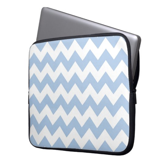 Light Blue and White Zigzag Computer Sleeve