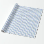 Light Blue and White Zigzag Gift Wrap
