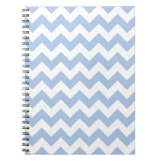 Light Blue and White Zigzag Journal