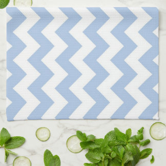 Light Blue and White Zigzag Kitchen Towels
