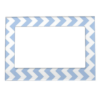 Light Blue and White Zigzag Magnetic Photo Frame
