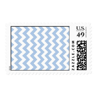 Light Blue and White Zigzag Postage Stamp